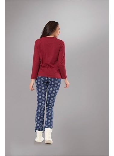 Obje Kadın Pijama Takımı Renkli